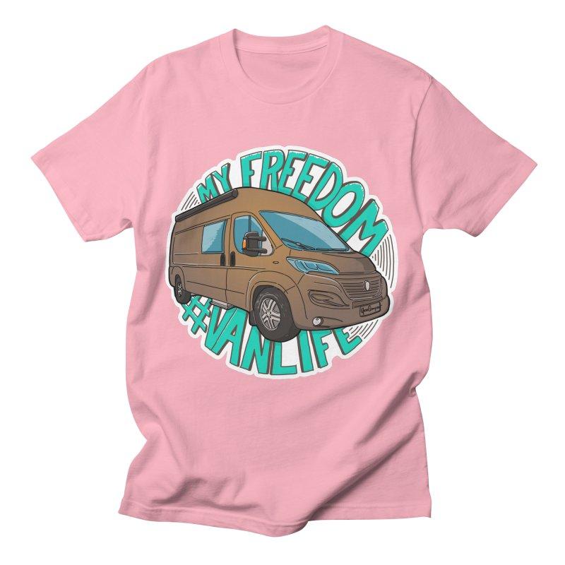 My Freedom Vanlife Men's T-Shirt by Illustrated GuruCamper