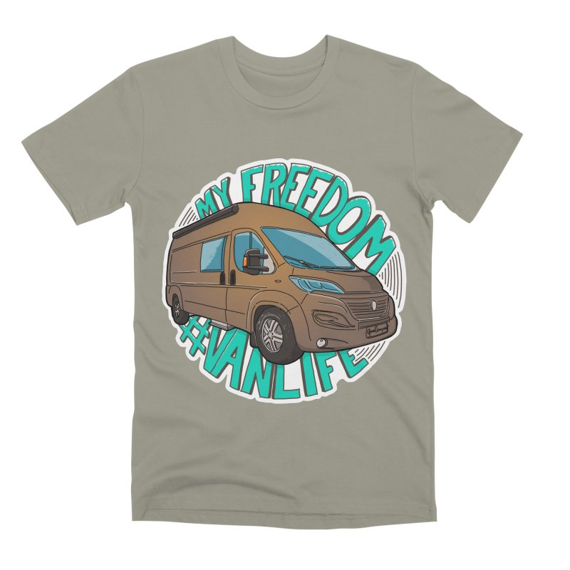My Freedom Vanlife Men's Premium T-Shirt by Illustrated GuruCamper