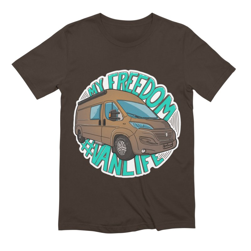 My Freedom Vanlife Men's Extra Soft T-Shirt by Illustrated GuruCamper