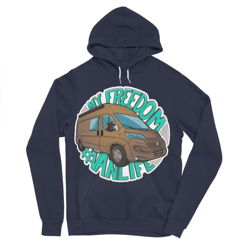 My Freedom Vanlife Men's Sponge Fleece Pullover Hoody by Illustrated GuruCamper