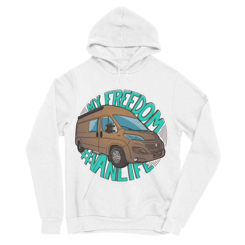 My Freedom Vanlife Women's Sponge Fleece Pullover Hoody by Illustrated GuruCamper