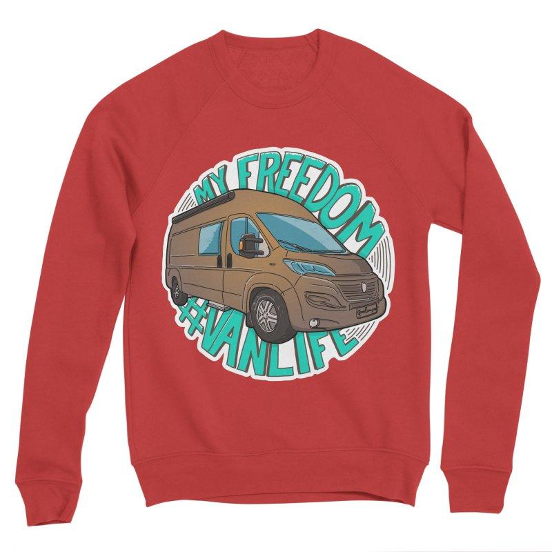 My Freedom Vanlife Men's Sponge Fleece Sweatshirt by Illustrated GuruCamper