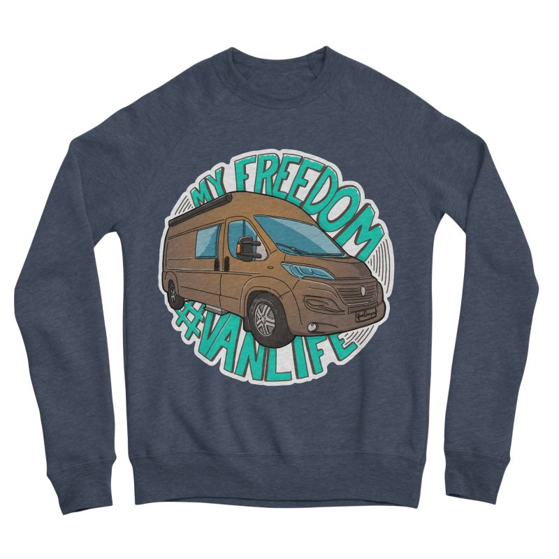 My Freedom Vanlife Women's Sponge Fleece Sweatshirt by Illustrated GuruCamper