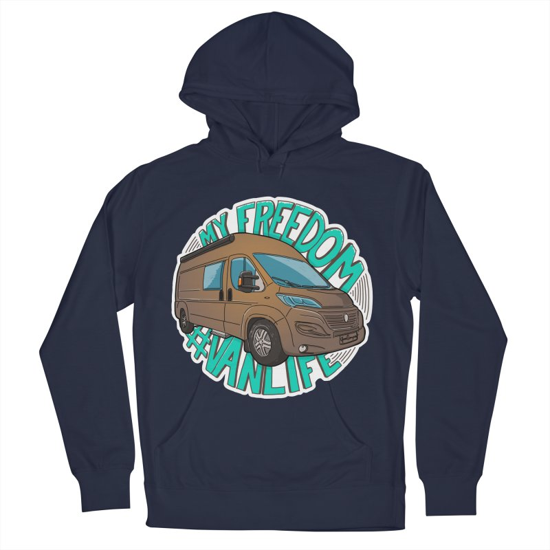 My Freedom Vanlife Women's French Terry Pullover Hoody by Illustrated GuruCamper