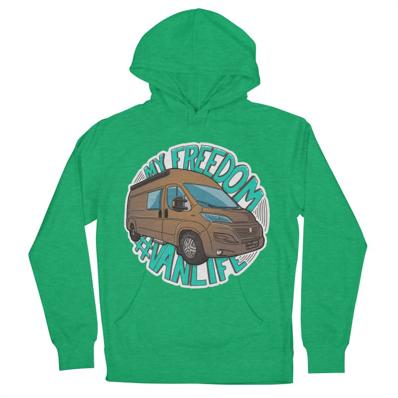 My Freedom Vanlife Men's French Terry Pullover Hoody by Illustrated GuruCamper