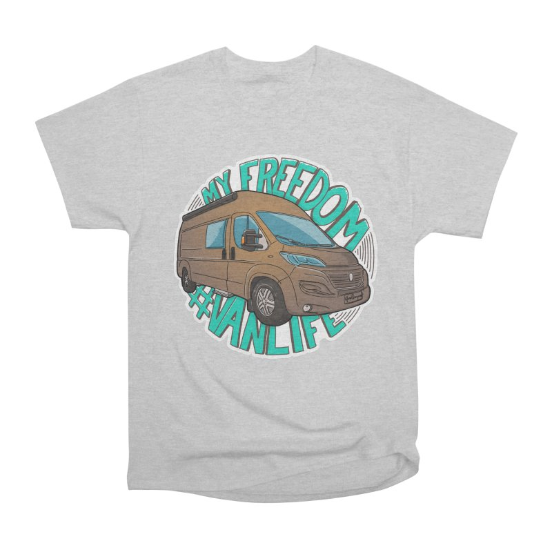My Freedom Vanlife Women's Heavyweight Unisex T-Shirt by Illustrated GuruCamper