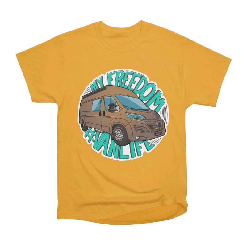 My Freedom Vanlife Men's Heavyweight T-Shirt by Illustrated GuruCamper