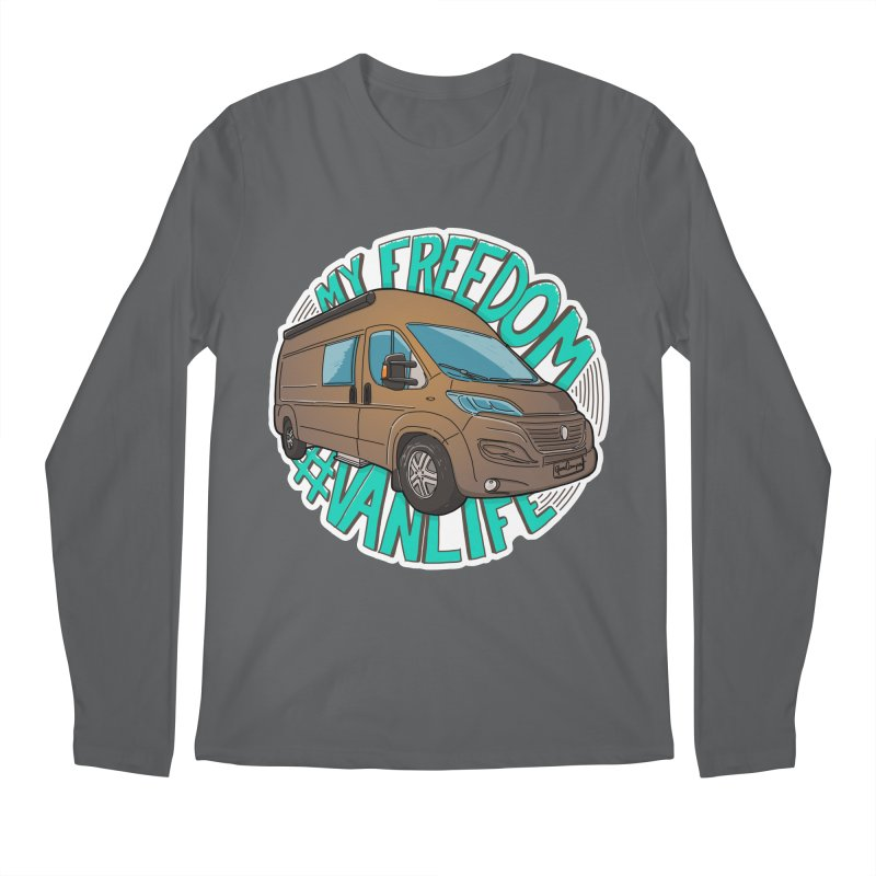 My Freedom Vanlife Men's Longsleeve T-Shirt by Illustrated GuruCamper