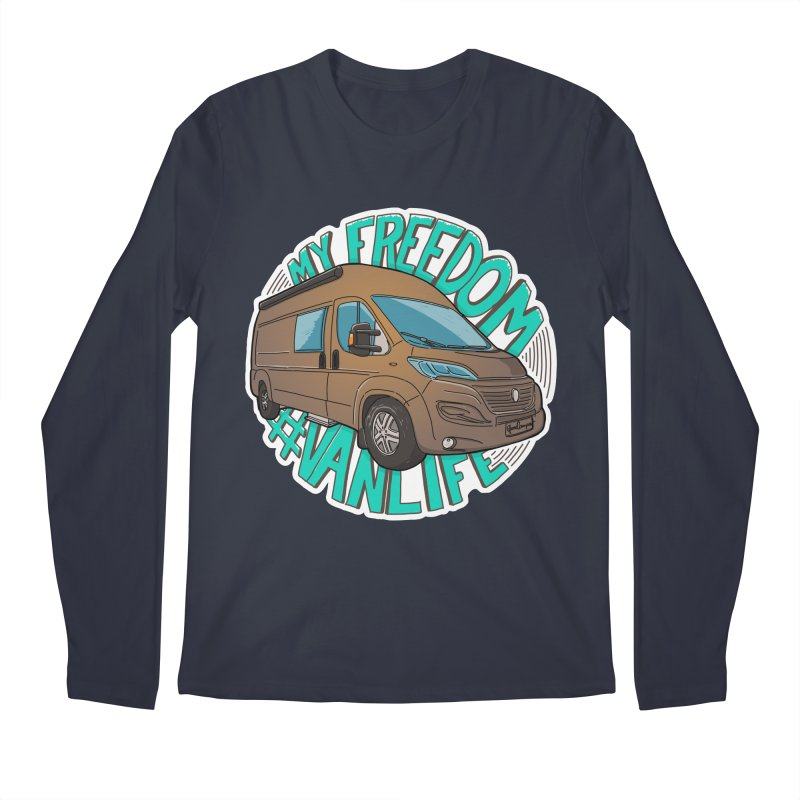 My Freedom Vanlife Men's Regular Longsleeve T-Shirt by Illustrated GuruCamper