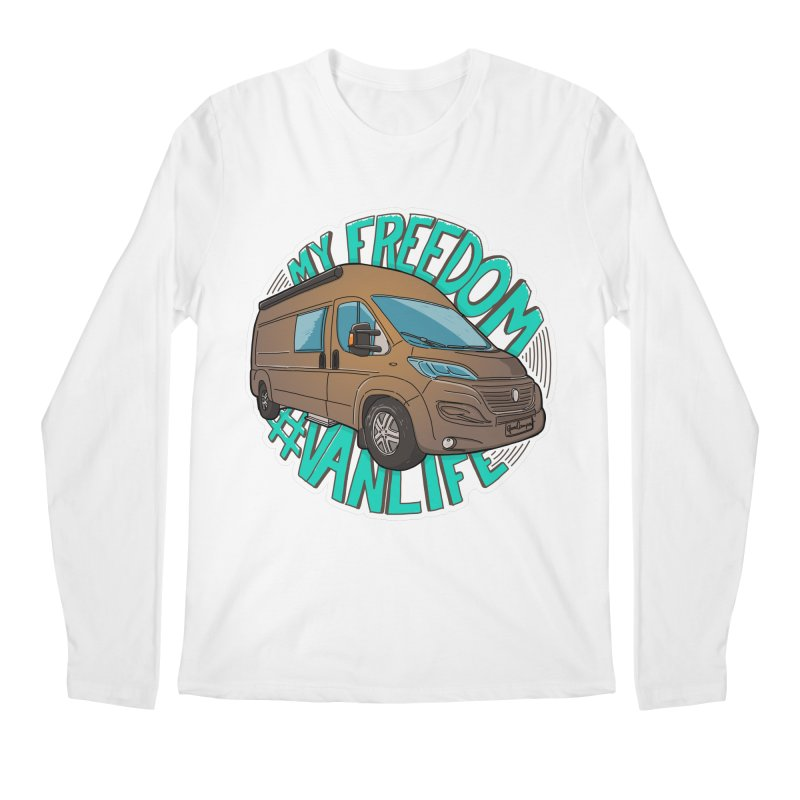 My Freedom Vanlife Men's Regular Longsleeve T-Shirt by Illustrated GuruCamper
