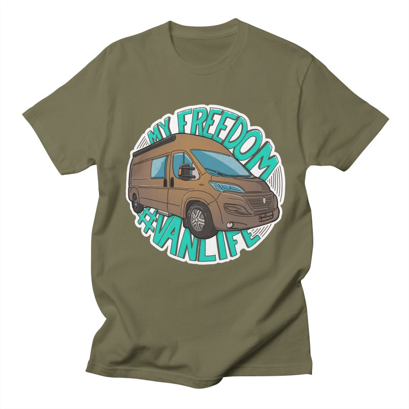 My Freedom Vanlife Women's Regular Unisex T-Shirt by Illustrated GuruCamper