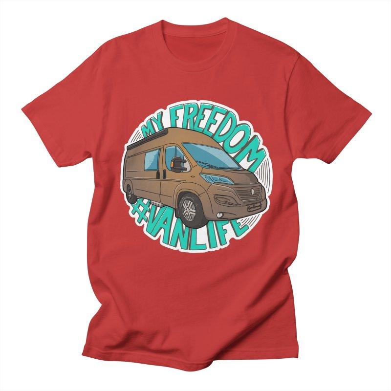My Freedom Vanlife Men's Regular T-Shirt by Illustrated GuruCamper