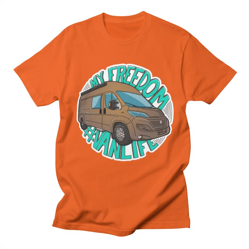 My Freedom Vanlife Men's Regular T-Shirt by Illustrated GuruCamper