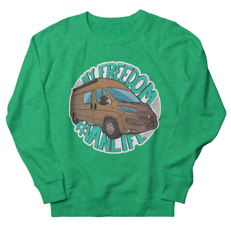 My Freedom Vanlife Women's Sweatshirt by Illustrated GuruCamper