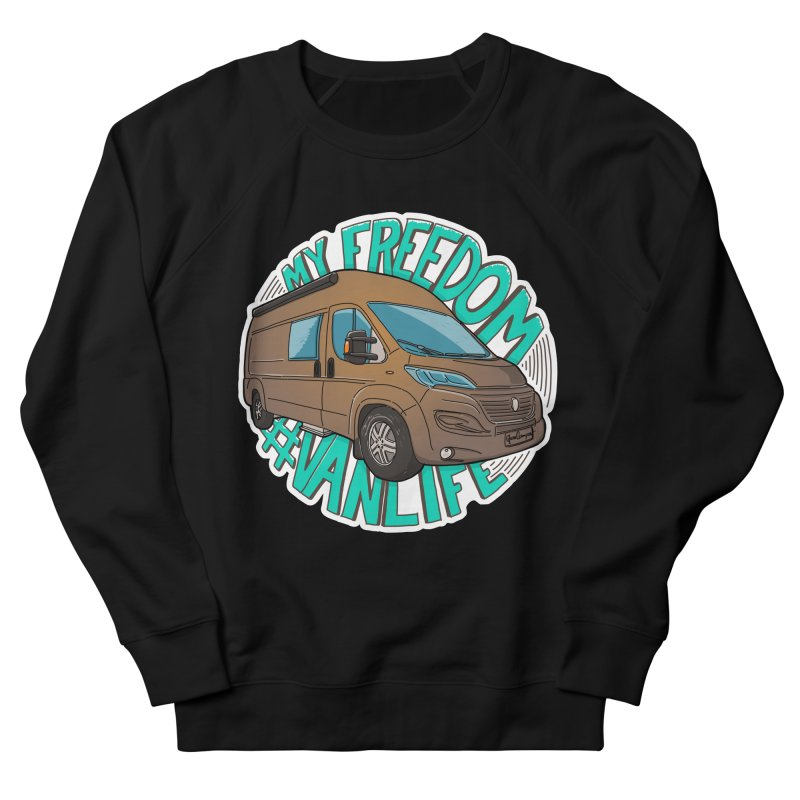 My Freedom Vanlife Women's French Terry Sweatshirt by Illustrated GuruCamper