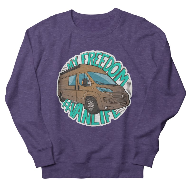 My Freedom Vanlife Men's French Terry Sweatshirt by Illustrated GuruCamper