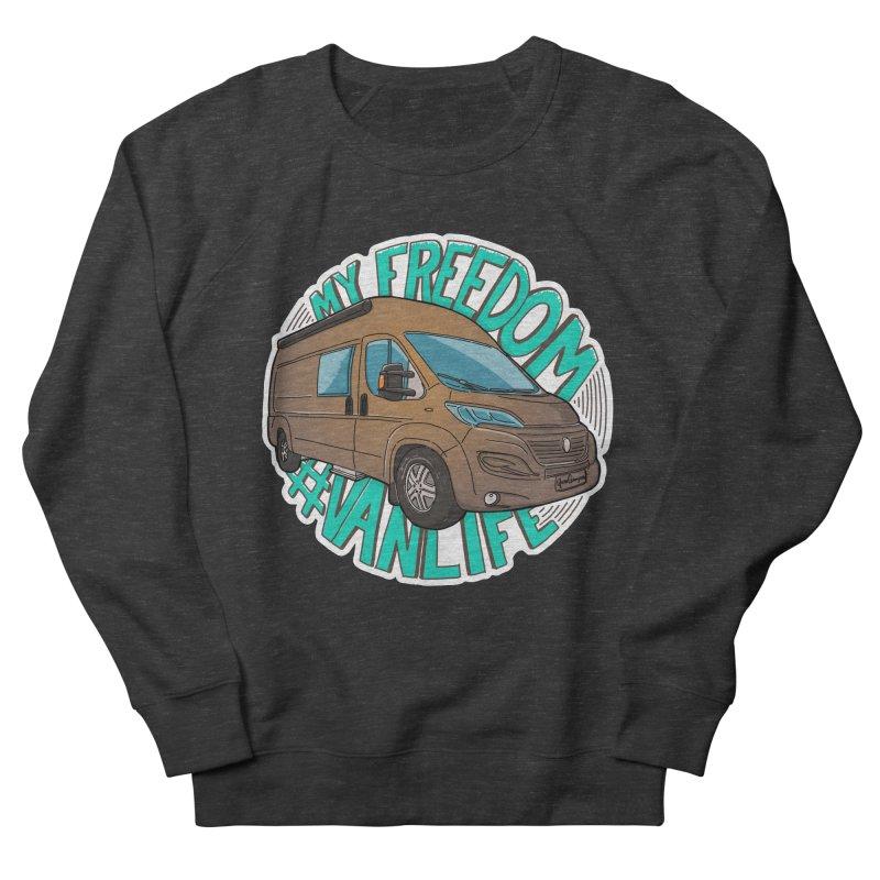 My Freedom Vanlife Men's French Terry Sweatshirt by Illustrated GuruCamper