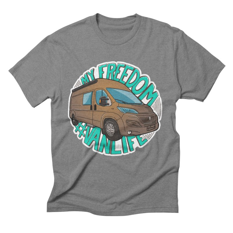 My Freedom Vanlife Men's Triblend T-Shirt by Illustrated GuruCamper