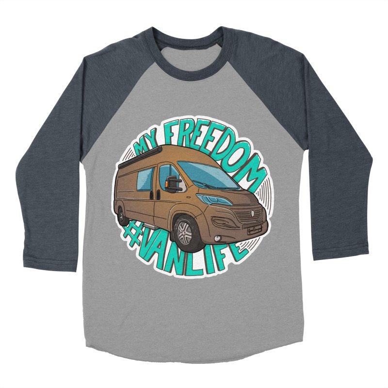 My Freedom Vanlife Women's Baseball Triblend Longsleeve T-Shirt by Illustrated GuruCamper