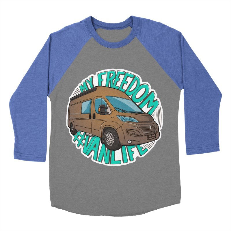 My Freedom Vanlife Men's Baseball Triblend Longsleeve T-Shirt by Illustrated GuruCamper