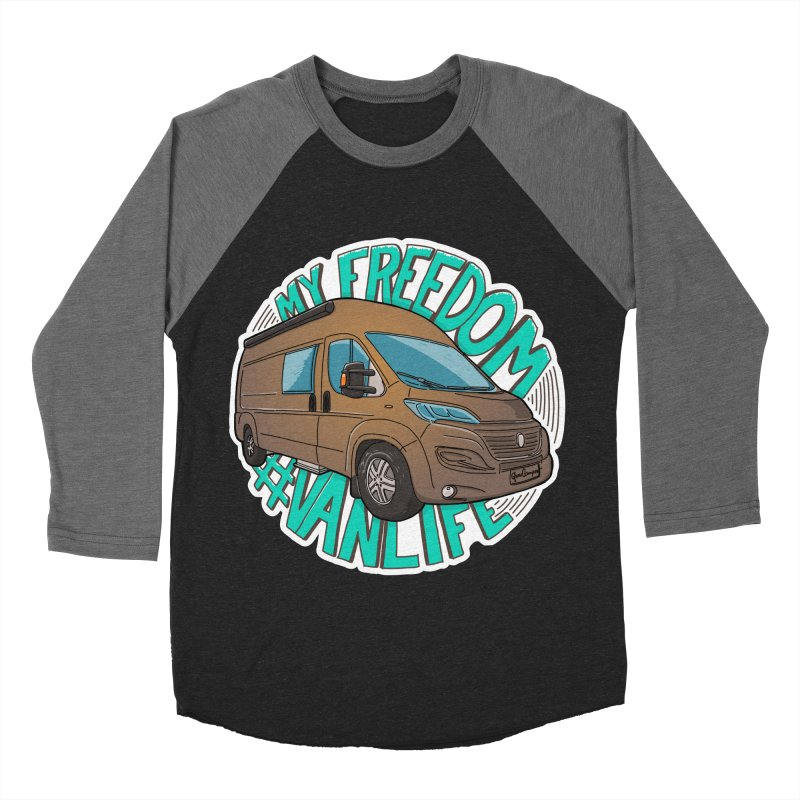 My Freedom Vanlife Men's Baseball Triblend Longsleeve T-Shirt by Illustrated GuruCamper