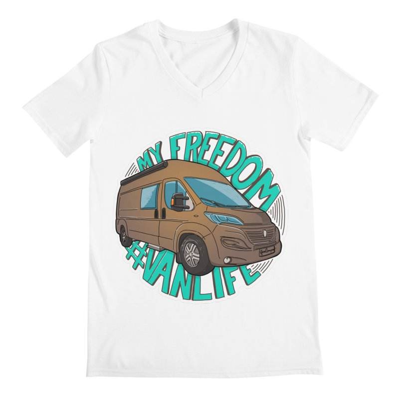 My Freedom Vanlife Men's Regular V-Neck by Illustrated GuruCamper