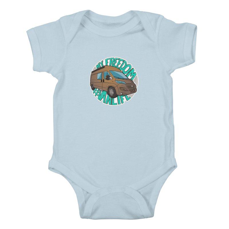 My Freedom Vanlife Kids Baby Bodysuit by Illustrated GuruCamper