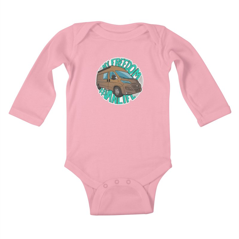 My Freedom Vanlife Kids Baby Longsleeve Bodysuit by Illustrated GuruCamper