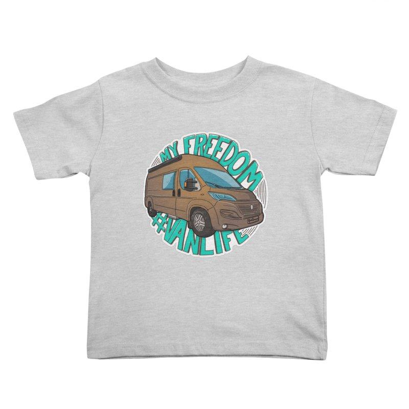 My Freedom Vanlife Kids Toddler T-Shirt by Illustrated GuruCamper