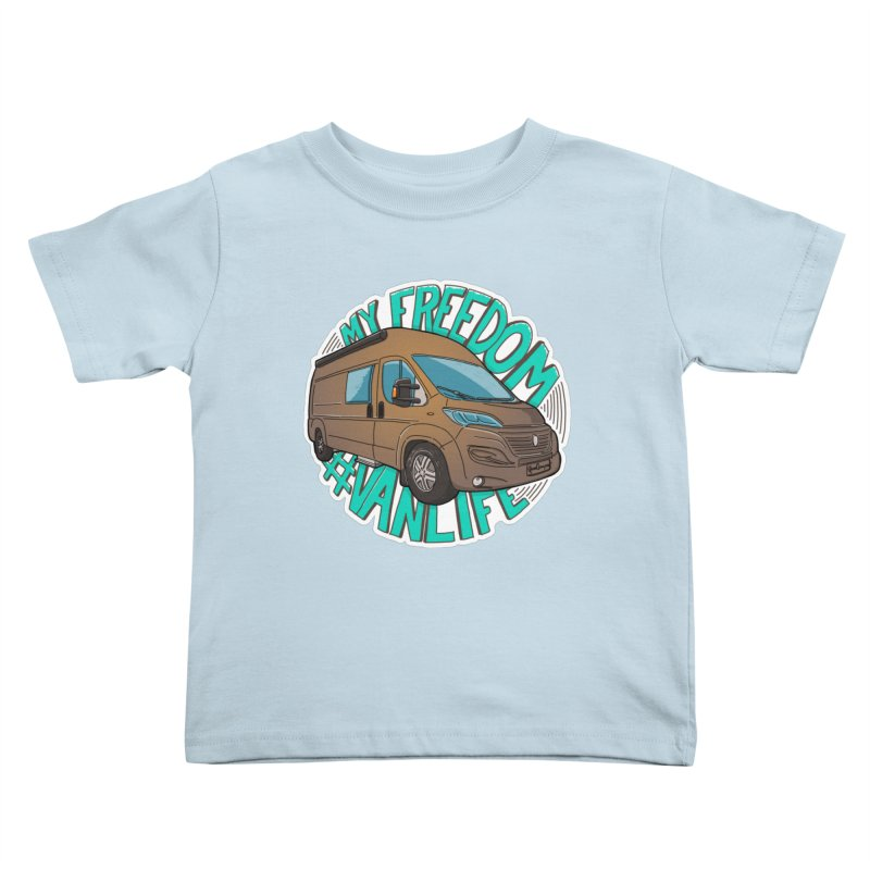 My Freedom Vanlife Kids Toddler T-Shirt by Illustrated GuruCamper