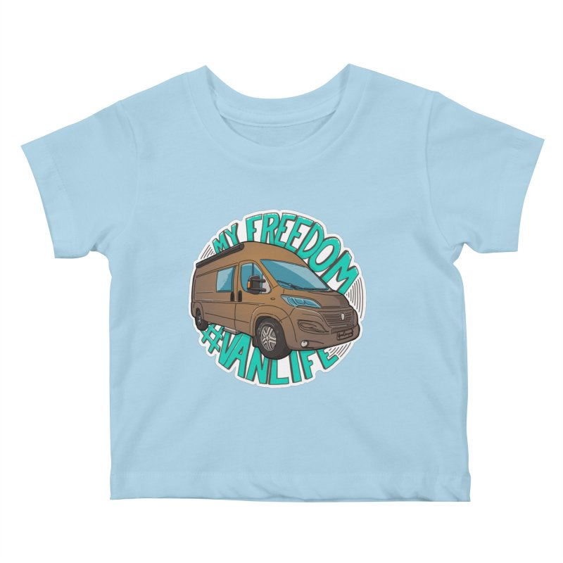 My Freedom Vanlife Kids Baby T-Shirt by Illustrated GuruCamper