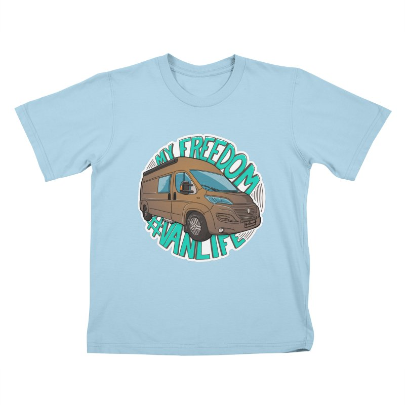 My Freedom Vanlife Kids T-Shirt by Illustrated GuruCamper
