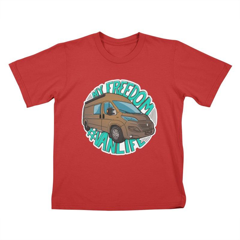 My Freedom Vanlife Kids T-Shirt by Illustrated GuruCamper