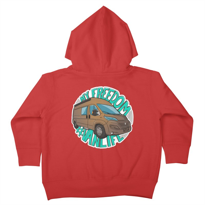 My Freedom Vanlife Kids Toddler Zip-Up Hoody by Illustrated GuruCamper