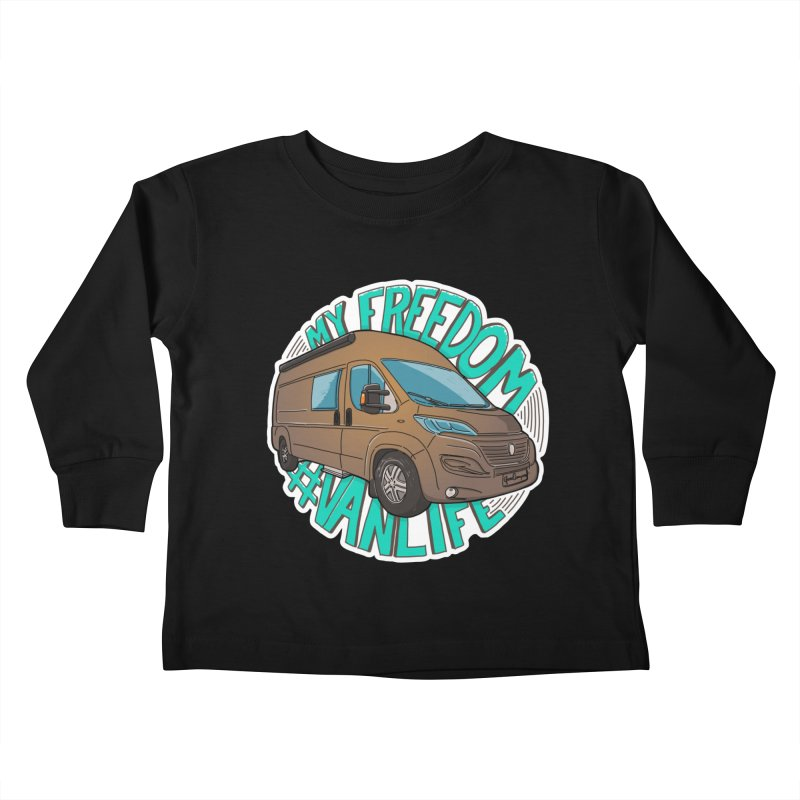 My Freedom Vanlife Kids Toddler Longsleeve T-Shirt by Illustrated GuruCamper