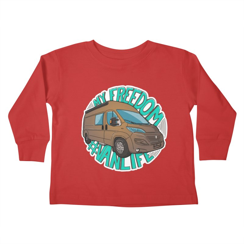 My Freedom Vanlife Kids Toddler Longsleeve T-Shirt by Illustrated GuruCamper