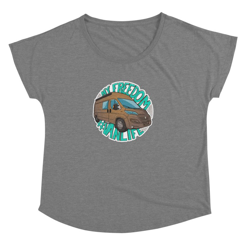 My Freedom Vanlife Women's Scoop Neck by Illustrated GuruCamper
