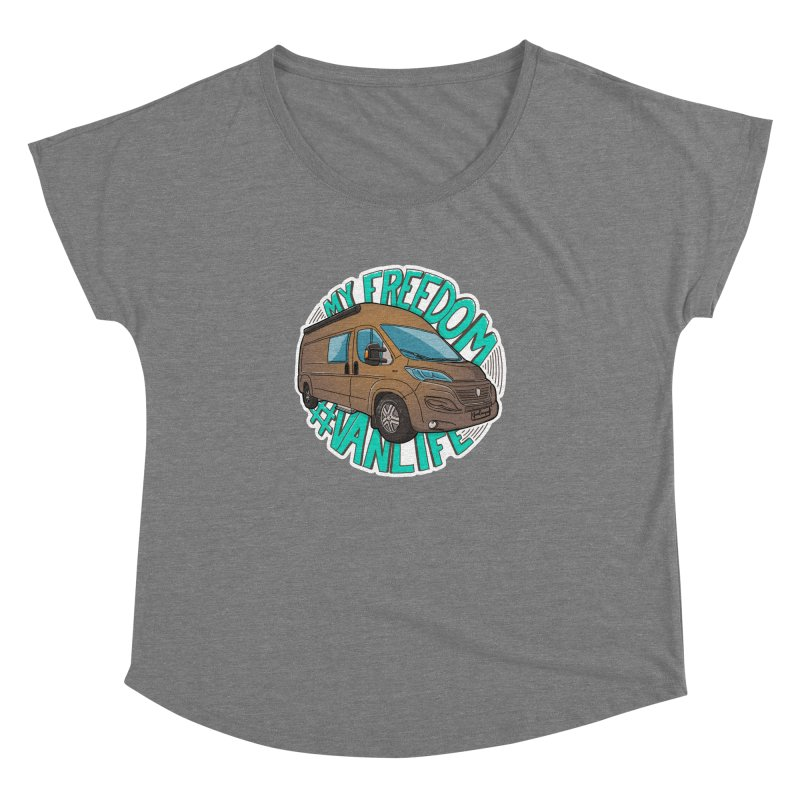 My Freedom Vanlife Women's Dolman Scoop Neck by Illustrated GuruCamper