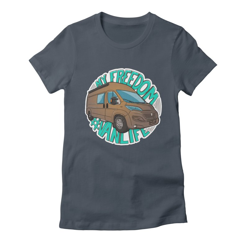 My Freedom Vanlife Women's T-Shirt by Illustrated GuruCamper