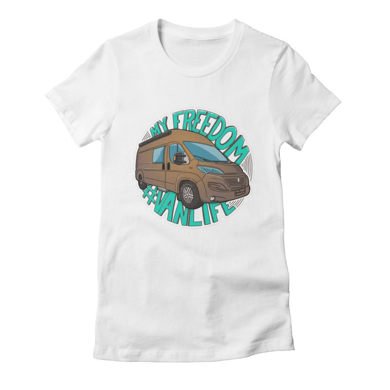 My Freedom Vanlife Women's Fitted T-Shirt by Illustrated GuruCamper