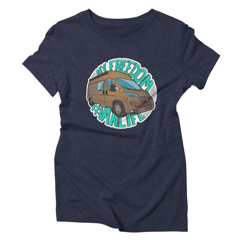 My Freedom Vanlife Women's Triblend T-Shirt by Illustrated GuruCamper