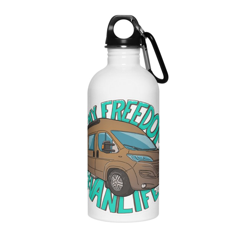 My Freedom Vanlife Accessories Water Bottle by Illustrated GuruCamper