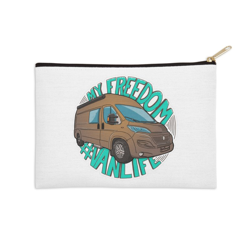 My Freedom Vanlife Accessories Zip Pouch by Illustrated GuruCamper