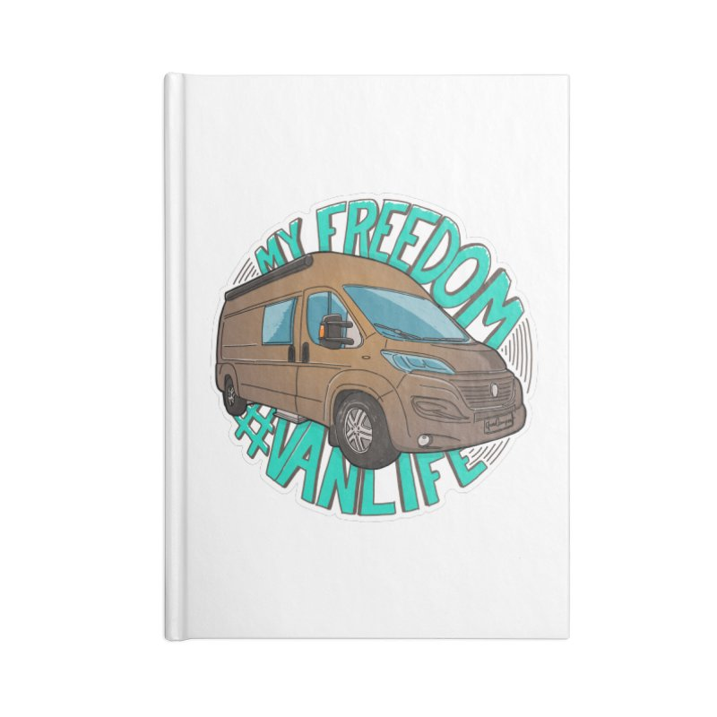 My Freedom Vanlife Accessories Lined Journal Notebook by Illustrated GuruCamper