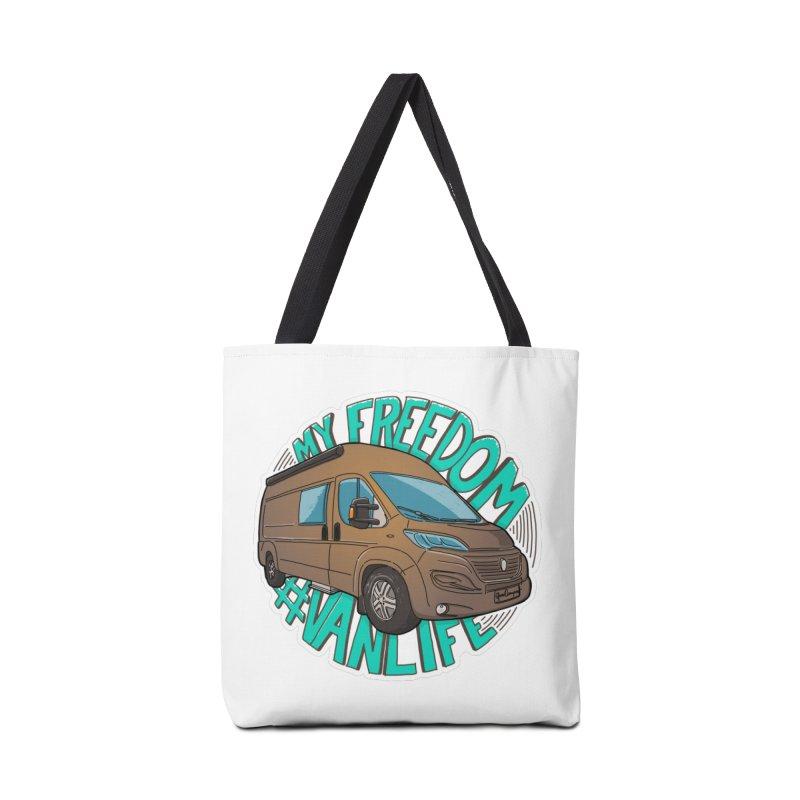 My Freedom Vanlife Accessories Tote Bag Bag by Illustrated GuruCamper