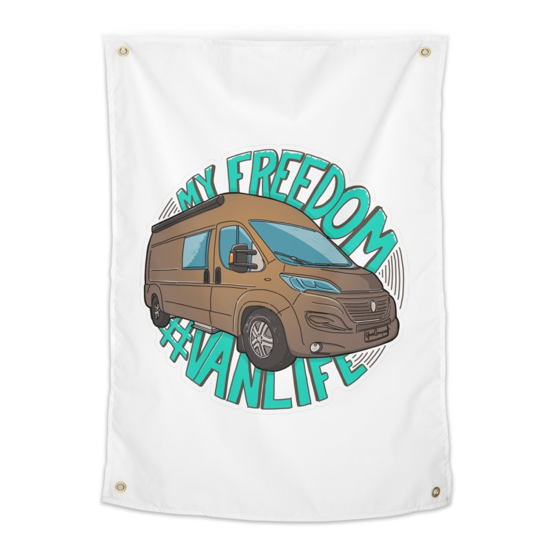 My Freedom Vanlife Home Tapestry by Illustrated GuruCamper