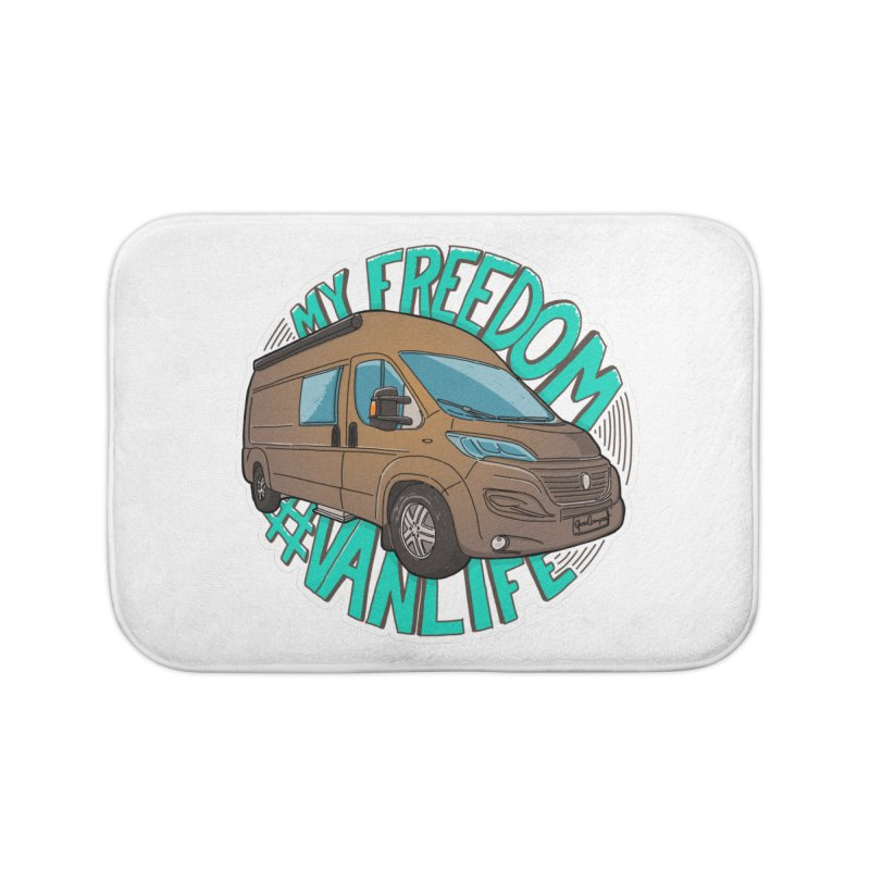 My Freedom Vanlife Home Bath Mat by Illustrated GuruCamper