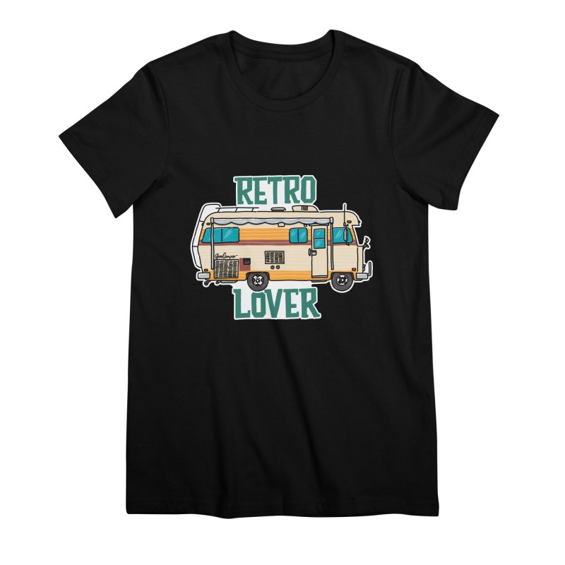 Commander Retro Lover Women's Premium T-Shirt by Illustrated GuruCamper