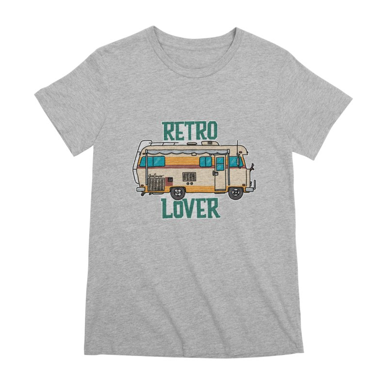 Commander Retro Lover Women's Premium T-Shirt by Illustrated GuruCamper