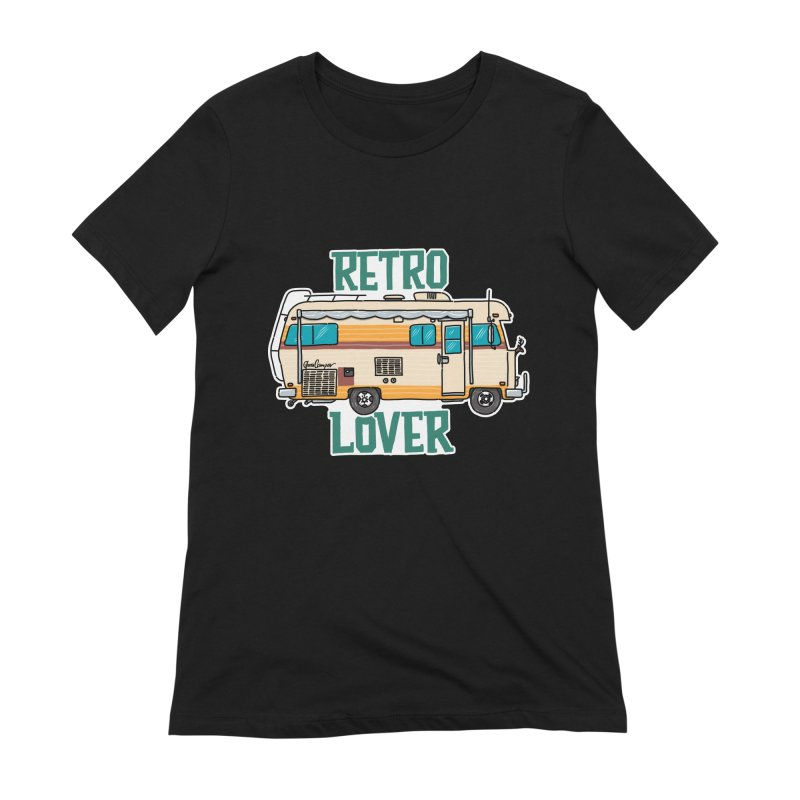 Commander Retro Lover Women's Extra Soft T-Shirt by Illustrated GuruCamper